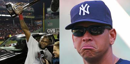 Happy Ortiz and Sad A-Rod