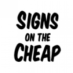 Signs on the Cheap logo