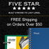 Five Star Promotion Code